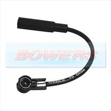 Car Stereo/Radio DIN To ISO Female Aerial/Ariel/Arial Antenna Extension Adaptor